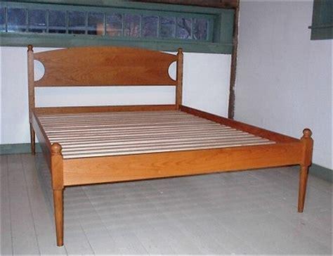 shaker bed shaker turned post bed richard bissell fine woodworking putney vt