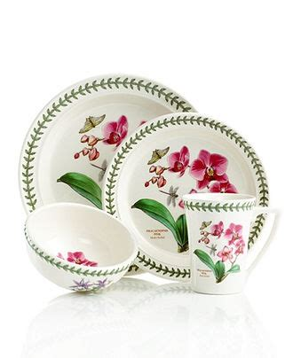 Botanical Gardens Dishes Pink Orchids Dinnerware And Orchids On Pinterest