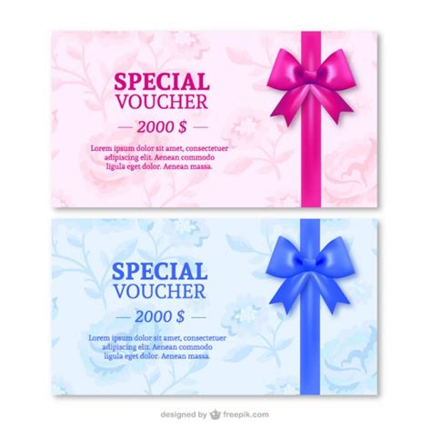 special gifts special gift cards with ribbons vector free