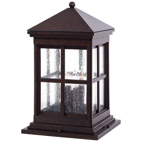 mission style l post lights berkeley column mount exterior light 8567 51 minka lavery