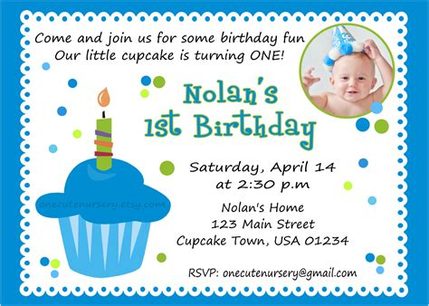 1st birthday card template birthday invites excellent baby boy birthday