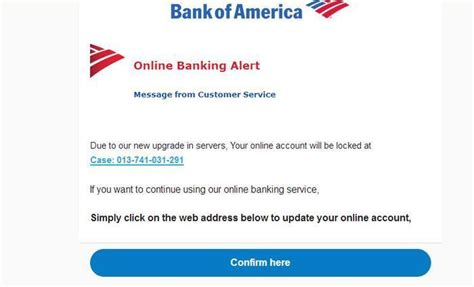 Central Bank Letterhead bank of america email scam still going strong