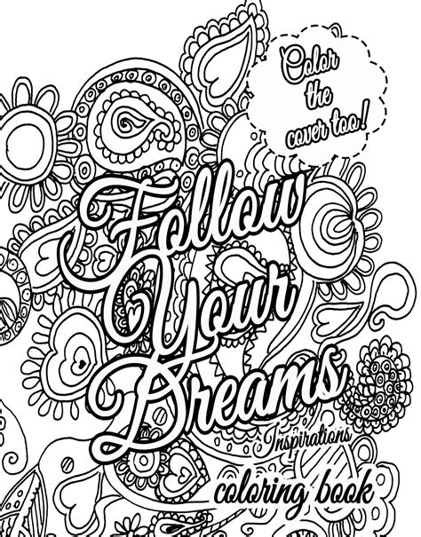live your dreams an coloring book with inspirational quotes and adorable kawaii drawings books 30 quote coloring pages coloringstar