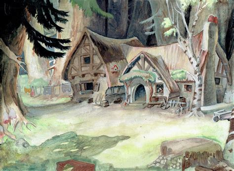 Dwarfs Cottage by Artstation A Study Of The 7 Dwarves Cottage From Snow