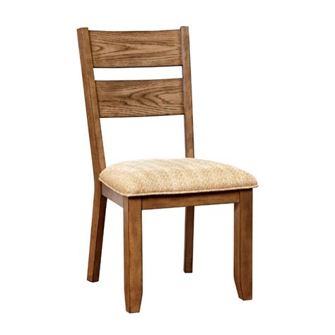 light oak kitchen chairs furniture of america natting dining chair in light oak