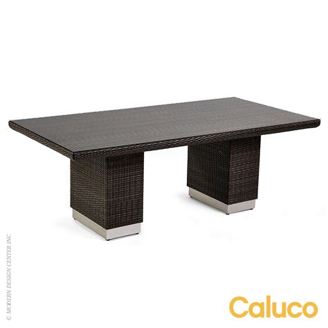 Caluco Patio Furniture Mirabella Rectangle Dining Table Caluco Patio Furniture Metropolitandecor