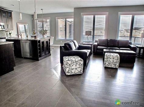 Clean Tile To Hardwood Floor Transition Looks Seamless Kitchen And Living Room Flooring Ideas