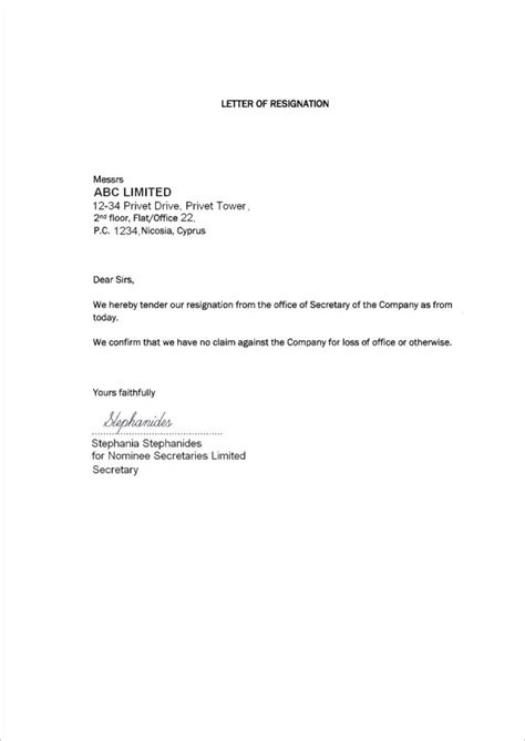 resigning   job letter sample loginnelkrivercom