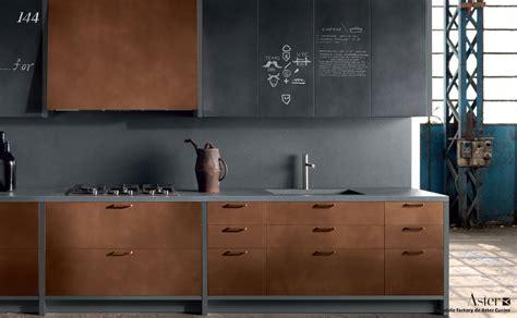 cuisine cuivre cuisine type industriel mobilier cuivre bois brut b 233 ton cir 233