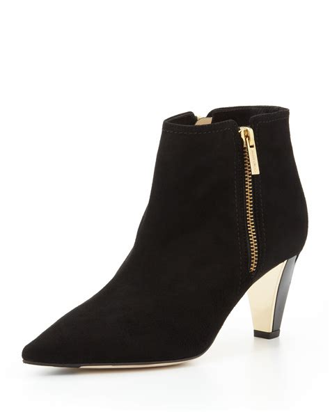 10 Jimmy Choo Boots by Jimmy Choo Lowry Suede Ankle Boot Black In Black Lyst