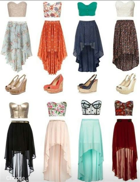 crop tops high low skirts ツツ