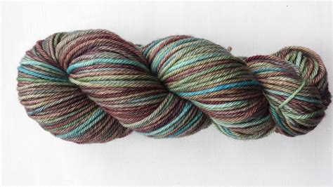 hand dyed yarn variegated yarn earth colors superwash