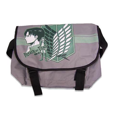 attack on titan levi gray messenger bag great eastern