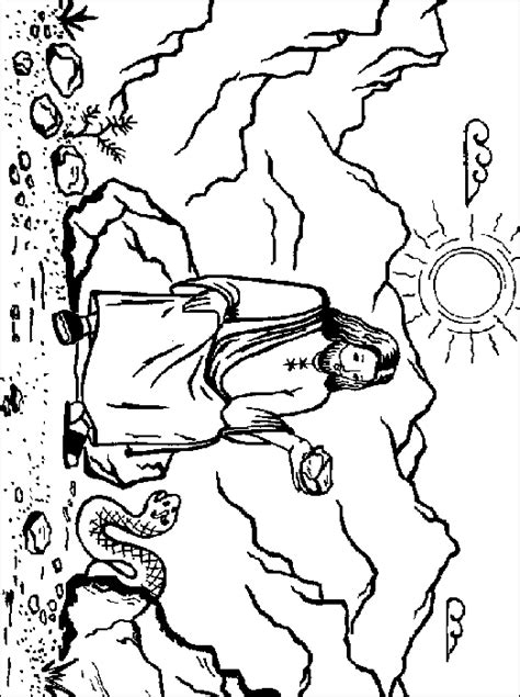 coloring pages jesus tempted desert satan tempts jesus crafts print