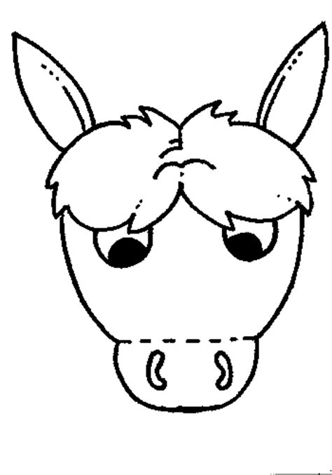 best photos of donkey mask template printable donkey