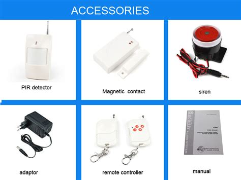 gsm wireless home alarm system