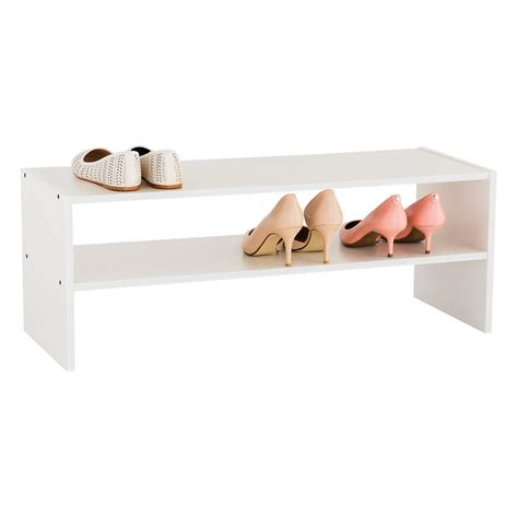 Stacker Shelf 2 shelf shoe stacker the container store