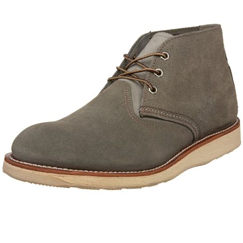 mens chukka work boots wing shoes mens work chukka boot in gray for