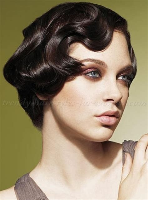 hair style for short wavy hairstyles vintage hairstyle for short hair