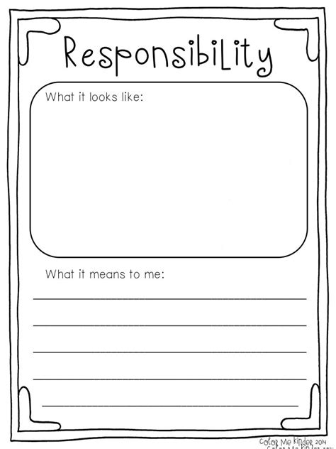 Respect And Responsibility Worksheets by 25 Best Ideas About Responsibility Lessons On