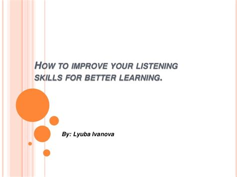 how to your to listen how to improve your listening skills