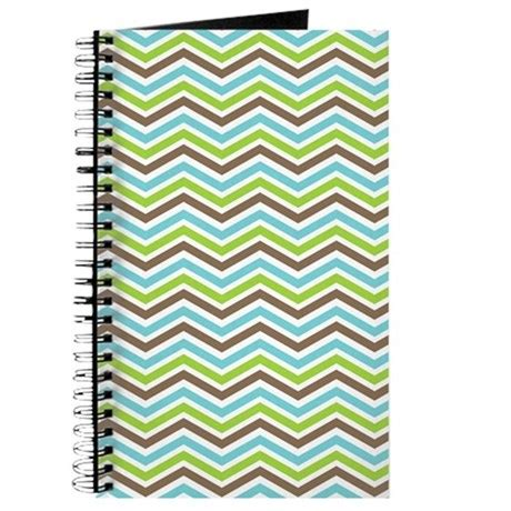 chevron pattern blue and green cute brown green and blue chevron pattern journa by