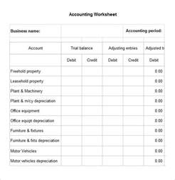 Account Sheet Template by 4 Accounting Worksheet Templates Free Excel Documents