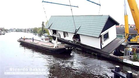 woonboot kopen leiden woonboot geborgen rijndijk leiden youtube