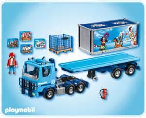 playmobil 4447 lkw container truck auflieger trailer ebay