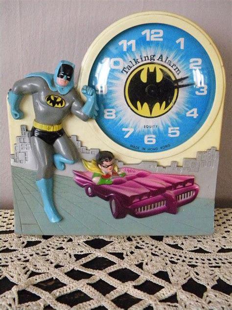 vintage batman  robin talking alarm clock relojes