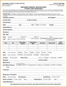Patient Report Form Template by 4 Patient Care Report Template Expense Report