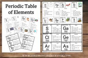 periodic table of elements cards a moment in our world