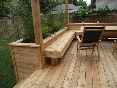 deck benches with planters best 25 deck planters ideas on pinterest