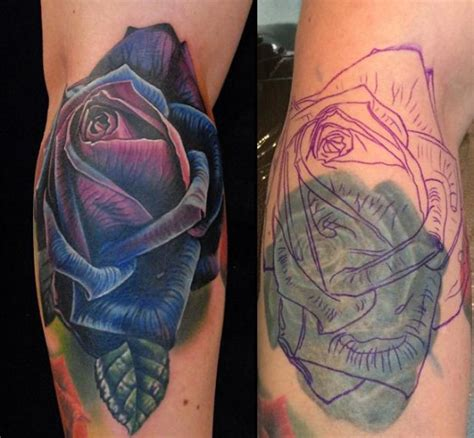rose tattoo cover up ideas 50 cover up tattoos that will stun you instantly