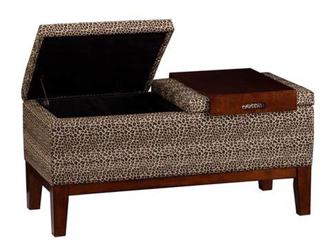 leopard storage bench barbosa storage bench w tray leopard