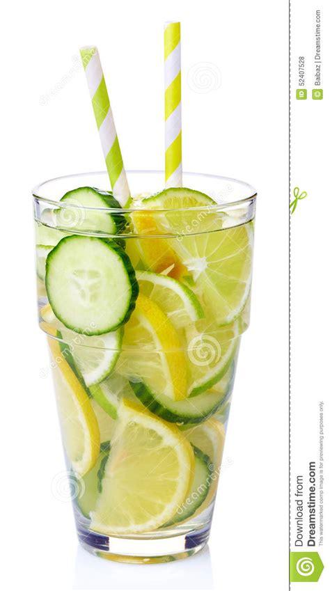 Cucumber Lime Lemon Water Detox by Detox Water Stock Photo Image 52407528