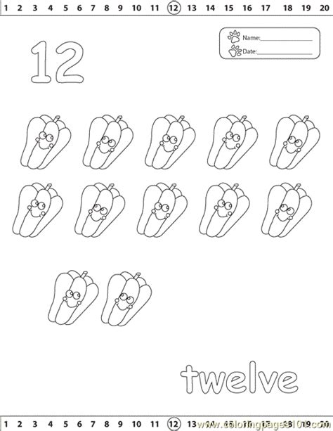 coloring pages of number 12 26 number 12 coloring page color numbers 11 to 20