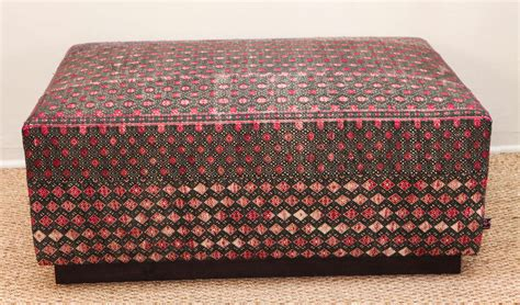 chinese ottoman ottoman with vintage chinese hill tribe hand brocade
