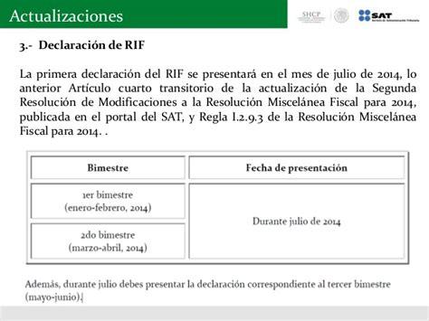 www sat gob mx calculo bimestral rif isr iva 2016 obligaciones del rif newhairstylesformen2014 com