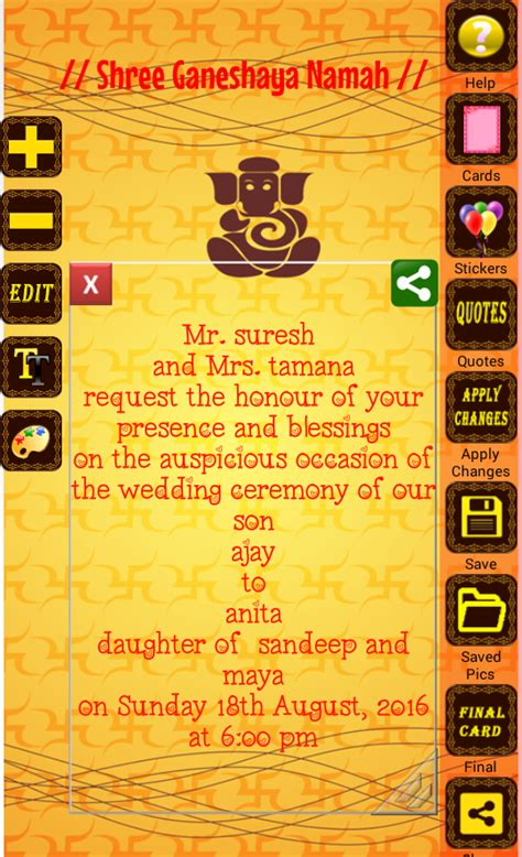 hindu marriage invitation card maker free hindu wedding invitation cards android apps on play