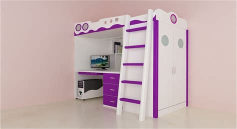 Bunk Bed With Wardrobe Get Modern Complete Home Interior With 20 Years Durability Joyce Bunk Bed Wardrobe