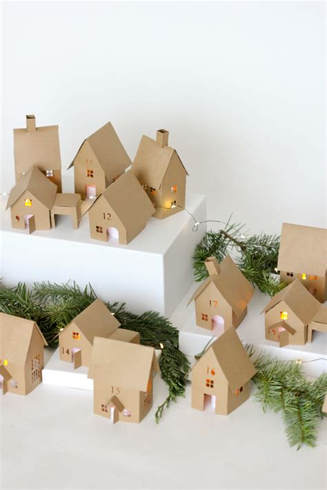 How To Make A Small Paper House - advent paper houses silhouette cameo giveaway