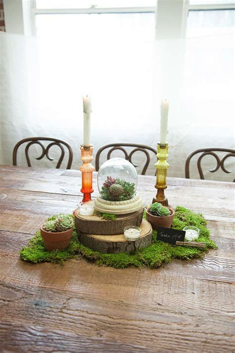 make your own table centerpiece 17 best ideas about moss centerpiece wedding on