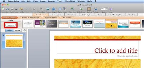 applying themes powerpoint 2010 applying themes in powerpoint word and excel 2008 for