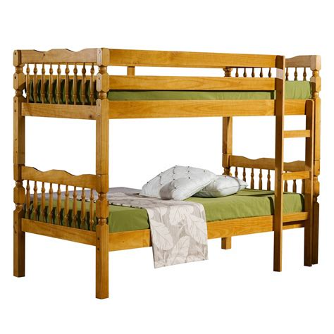 Bunk Bed Frame Splittable Weston Detachable Honey Pine Bunk Bed Frame