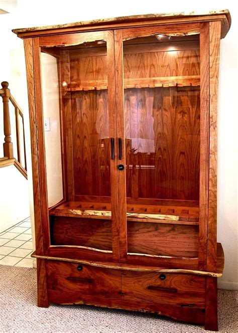 Handmade Gun Cabinets - crafted mesquite cherry gun cabinet by louis fry