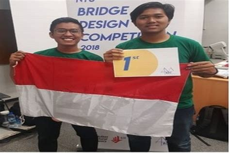 bridge design competition ntu mahasiswa ui juarai ajang bridge design competition di