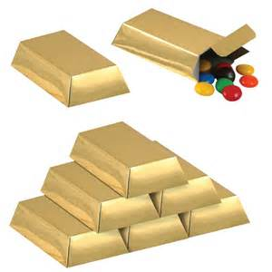 Gold Favor Boxes by Gold Bar Favor Boxes Partycheap