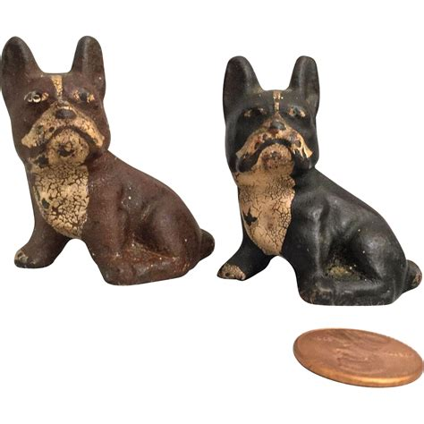 pair of pugs pair of painted cast iron pug dogs bulldog from shirleydoll on ruby