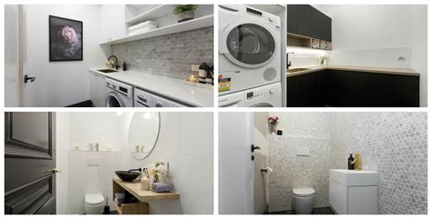 laundry design the block the block reveals hallway laundry and powder room the